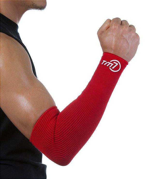 Protetor De Antebraço Longo Para Voleibol BRAC7 Vermelho no Punho
