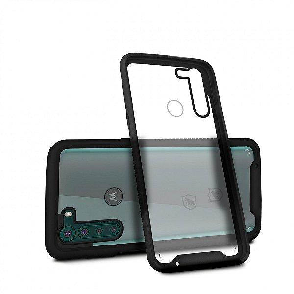 Capa Stronger Preta para Motorola Moto One Fusion Plus - Gshield