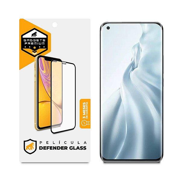 Película Defender Glass para Xiaomi Mi 11 5G - Preta - Gshield