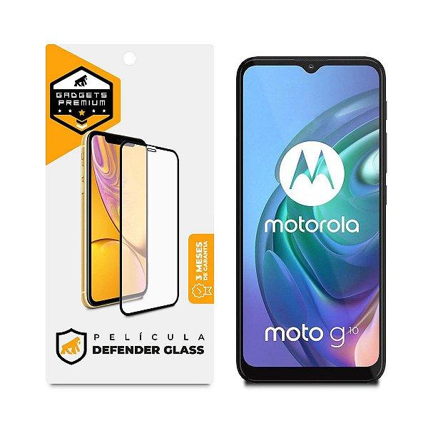 Película Defender Glass para Motorola Moto G10 - Preta - Gshield