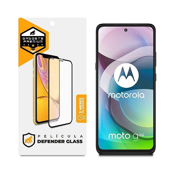 Película Defender Glass para Motorola Moto G 5G - Preta - Gshield