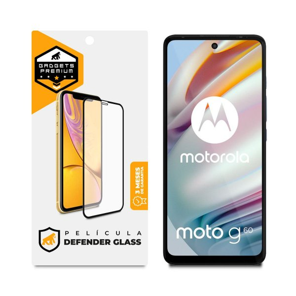 Película Defender Glass para Motorola Moto G60 - Preta - Gshield