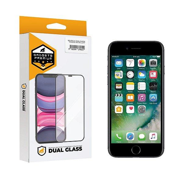 Película Dual Glass para iPhone 7 - Preto - Gshield