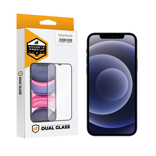 Película Dual Glass para iPhone 12 / 12 Pro - Preto - Gshield