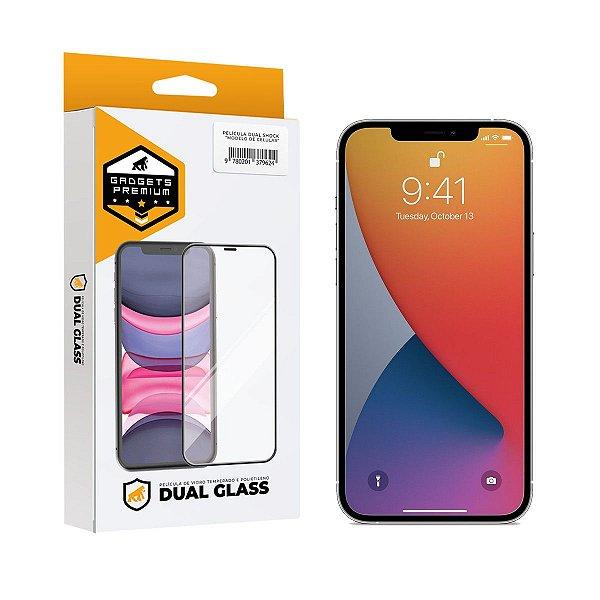 Película Dual Glass para iPhone 12 Pro Max - Preto - Gshield