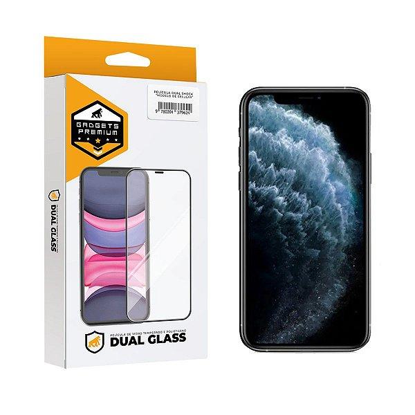 Película Dual Glass para iPhone 11 Pro / X / XS - Preto - Gshield