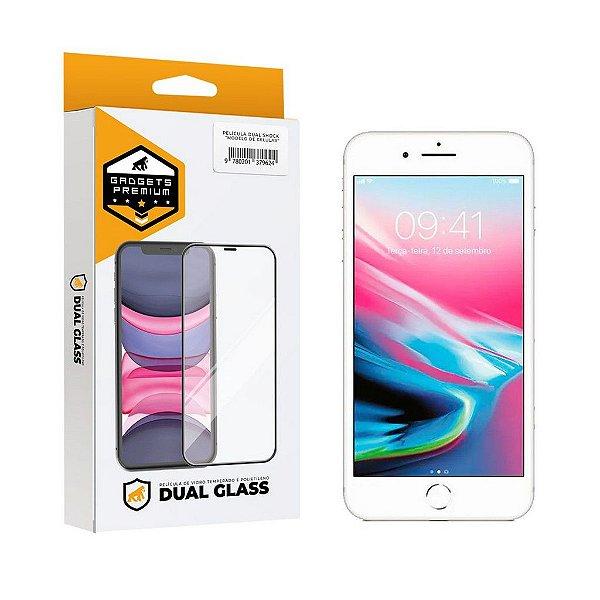 Película Dual Glass para iPhone 8 Plus - Branca - Gshield
