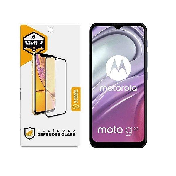 Película Defender Glass para Motorola Moto G20 - Preta - Gshield