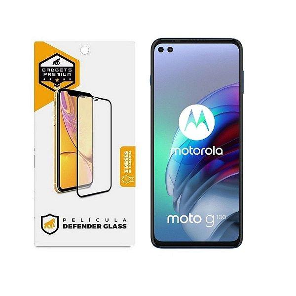 Película Defender Glass para Motorola Moto G100 5G - Preta - Gshield