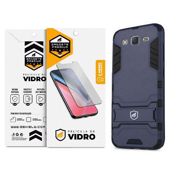 Kit Capa Armor e Película de Vidro Dupla para Samsung Galaxy J3 - Gshield