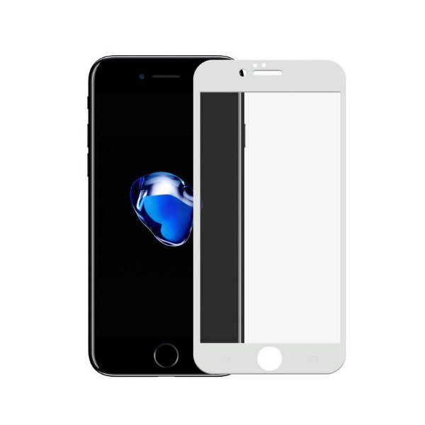 Película Coverage Color para iPhone 7 Plus - Branca - Gshield (Cobre toda tela)