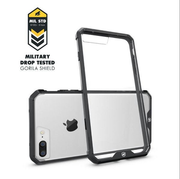 Capa Ultra Slim Air Preta para Iphone 7 Plus / 8 Plus - Gorila Shield