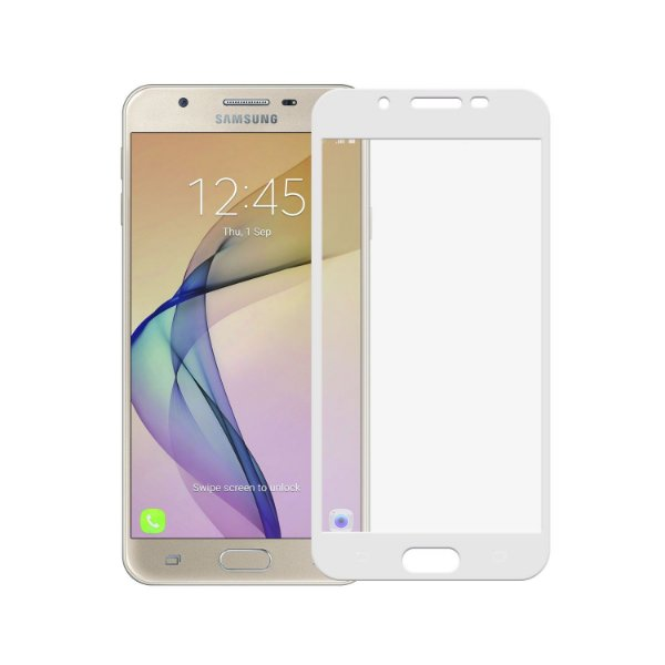 Película Coverage Color para Galaxy J7 Prime - Branca - Gorila Shield (Cobre toda tela)