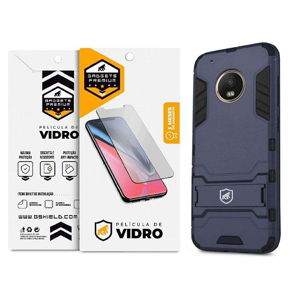 Kit Capa Armor e Película de Vidro Dupla para Motorola Moto G5 Plus - Gshield