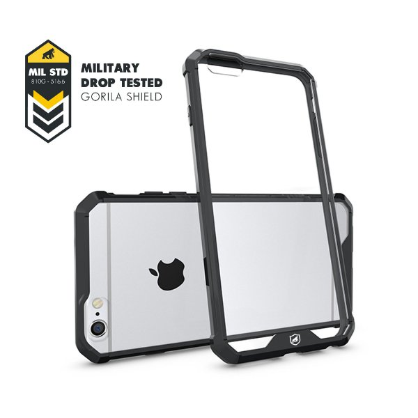 Capa Ultra Slim Air Preta para Iphone 6 e 6S - Gorila Shield