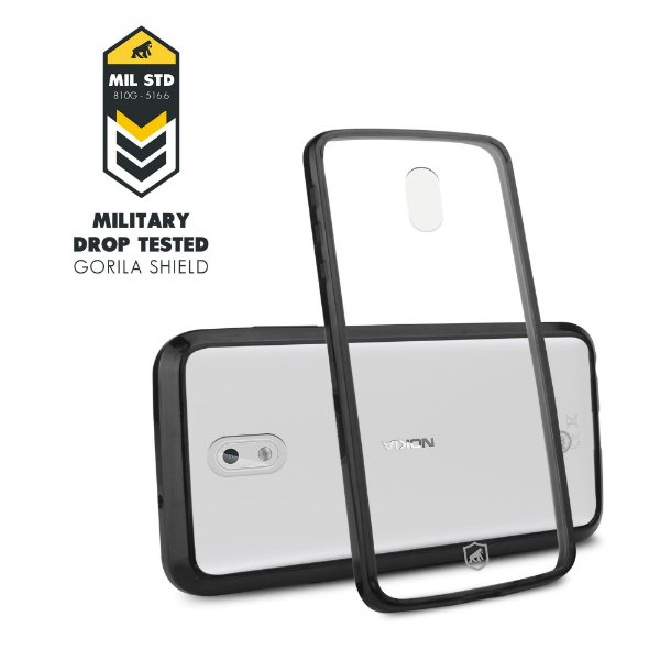 Capa Ultra Slim Air Preta para Nokia 3 - Gorila Shield