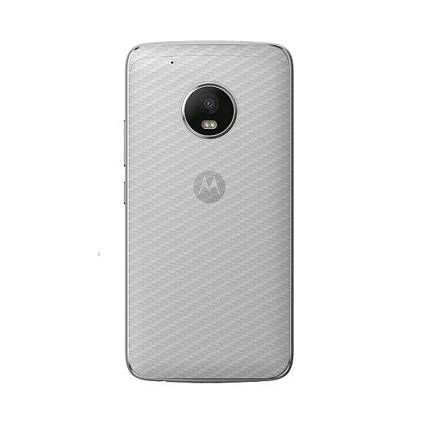 Película Traseira de Fibra de Carbono Transparente para Motorola Moto G5 Plus - Gorila Shield