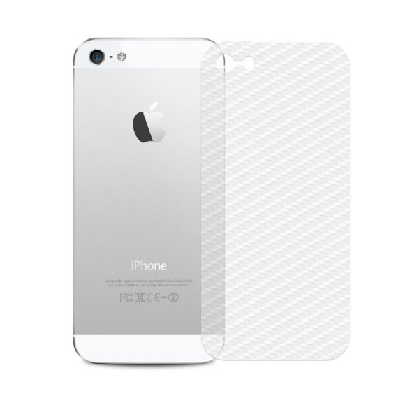 Película Traseira de Fibra de Carbono Transparente para iPhone 5 , 5s , SE - Gshield