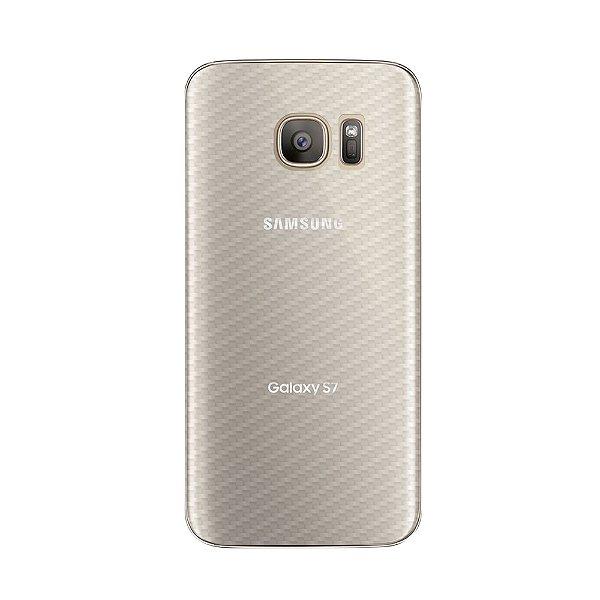 Película Traseira de Fibra de Carbono Transparente para Samsung Galaxy S7 Edge - Gorila Shield