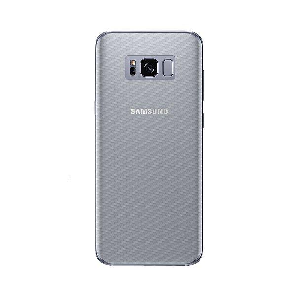 Película Traseira de Fibra de Carbono Transparente para Samsung Galaxy S8 Plus - Gorila Shield
