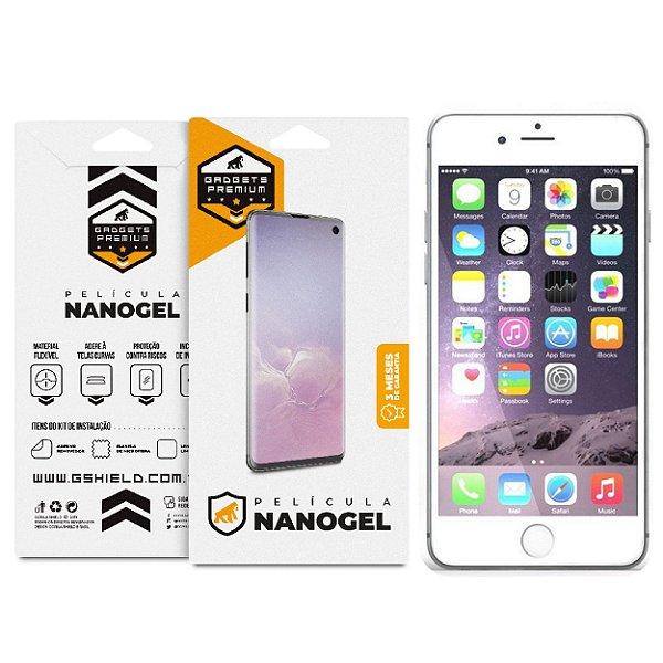 Película Nano Gel Dupla para iPhone 6 Plus e 6S Plus - Gshield (Cobre toda tela)