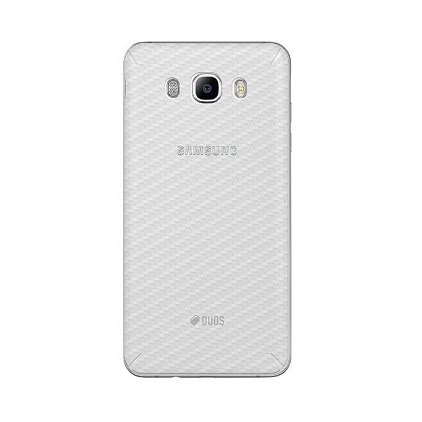 Película Traseira de Fibra de Carbono Transparente para Samsung Galaxy J7 Metal - Gorila Shield