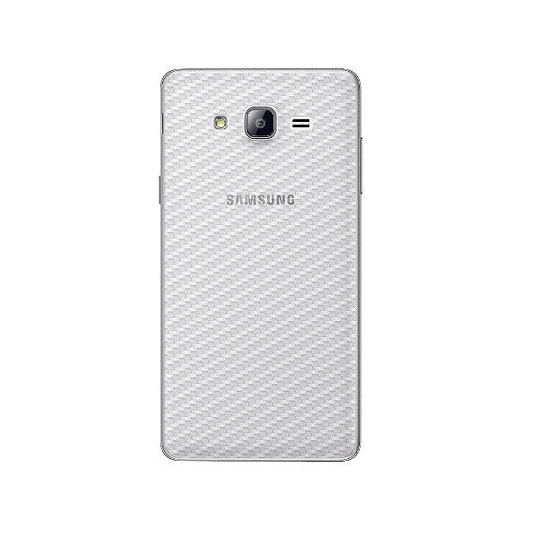 Película Traseira de Fibra de Carbono Transparente para Samsung Galaxy On7 - Gshield