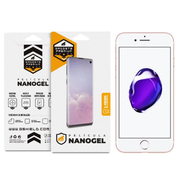 Película Nano Gel Dupla para iPhone 7 - Gshield (Cobre toda tela)