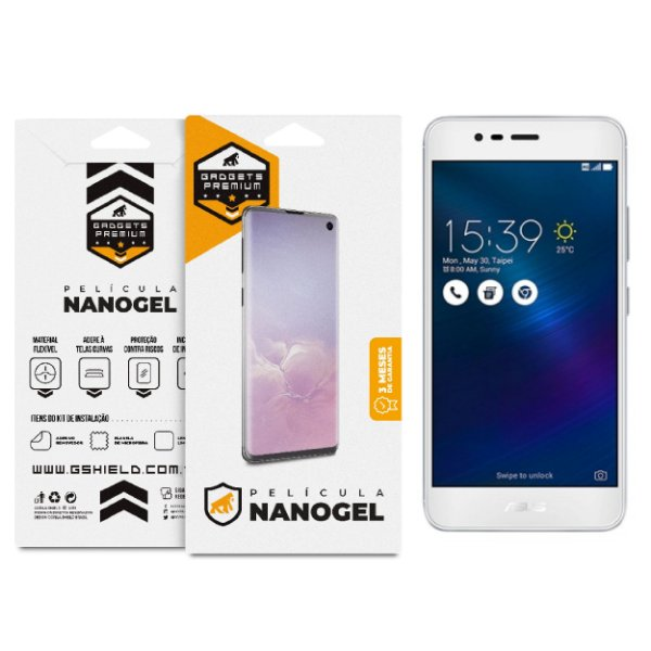 Película Nano Gel Dupla para Asus Zenfone 3 Max 5.5 ZC553KL – Gshield (Cobre toda tela)