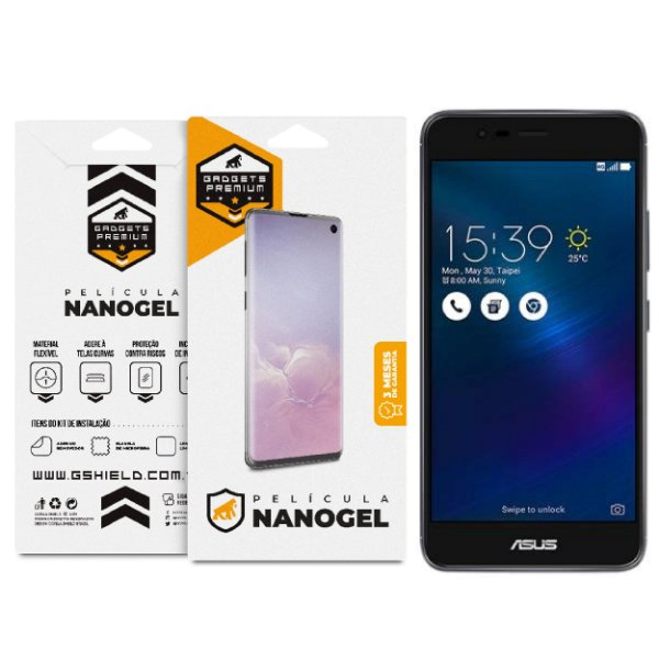 Película Nano Gel Dupla para Asus Zenfone 3 ZE552KL - Gshield (Cobre toda tela)