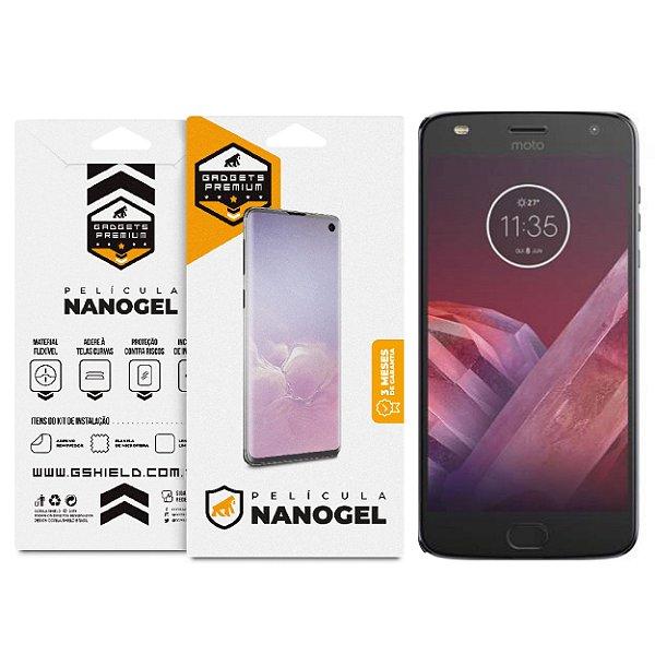 Película Nano Gel Dupla para Motorola Moto Z2 Play - Gshield (Cobre toda tela)
