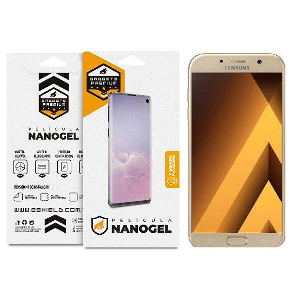 Película Nano Gel Dupla para Samsung Galaxy A7 2017 – Gshield (Cobre toda tela)