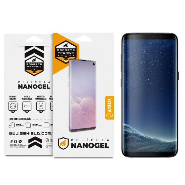 Película Nano Gel Dupla para Samsung Galaxy S8 – Gshield (Cobre toda tela)