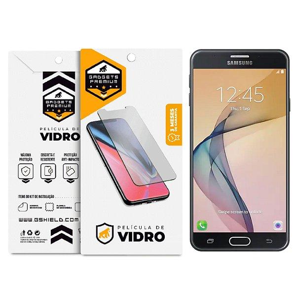Película de Vidro Dupla + Traseira em Fibra de Carbono para Samsung Galaxy J7 Prime - Gshield