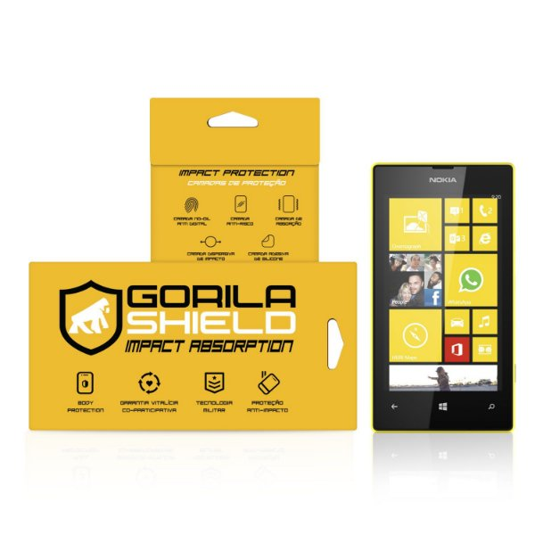 Película de Vidro Dupla para Microsoft 520 - Gorila Shield