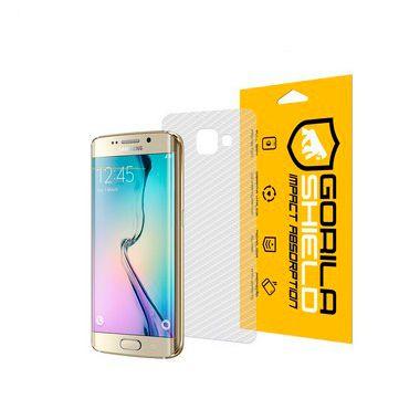 Película Nano Gel Dupla + traseira fibra de carbono para Samsung Galaxy S6 Edge - Gorila Shield (Cobre toda tela)