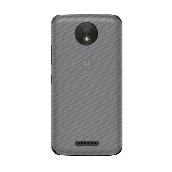 Película Traseira de Fibra de Carbono Transparente para Motorola Moto C Plus - Gorila Shield