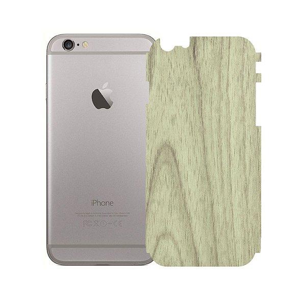 Skin Película Traseira Madeira Clara para Iphone 6 - Gorila Shield