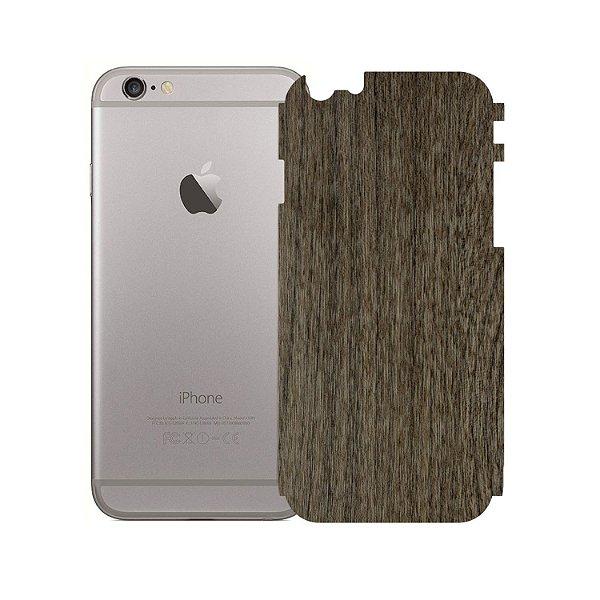 Skin Película Traseira Madeira Escura para Iphone 6 - Gorila Shield