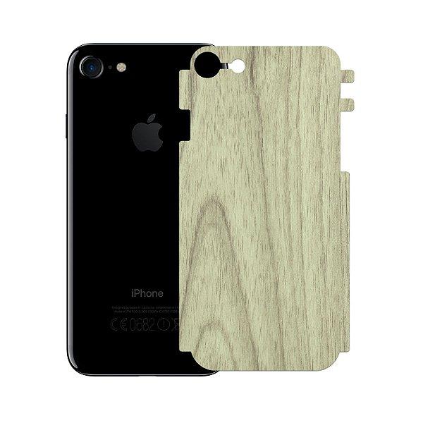Skin Película Traseira Madeira Clara para Iphone 7 - Gorila Shield