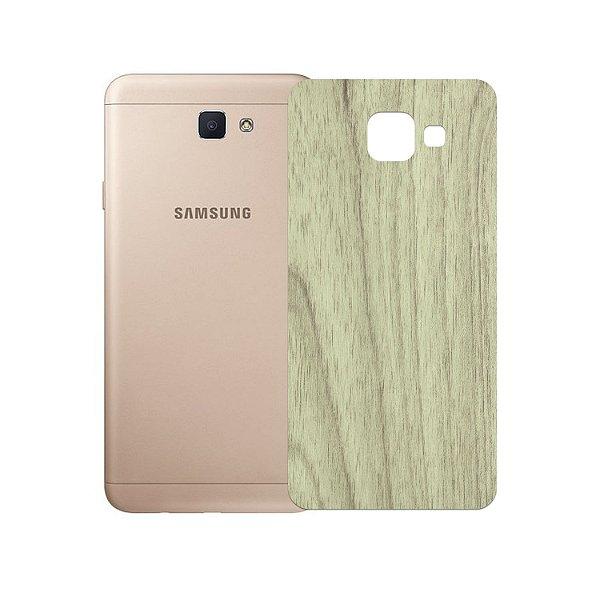 Skin Película Traseira Madeira Clara para Samsung Galaxy J7 Prime - Gorila Shield