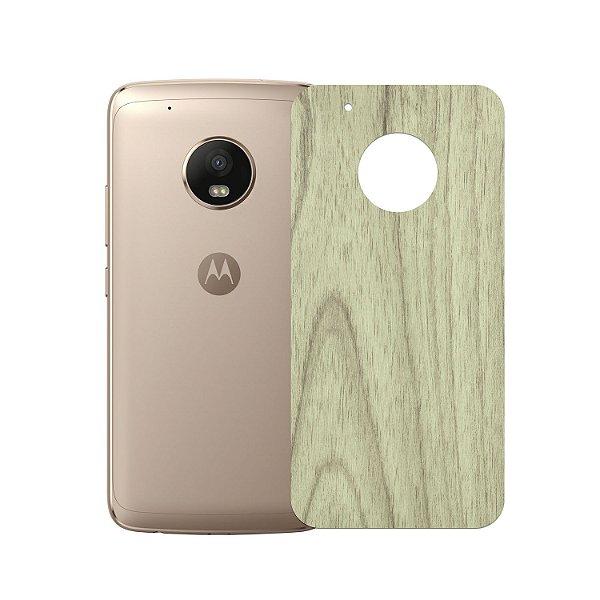 Skin Película Traseira Madeira Clara para Motorola Moto G5 Plus - Gorila Shield