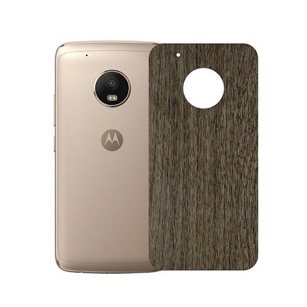 Skin Película Traseira Madeira Escura para Motorola Moto G5 Plus - Gorila Shield
