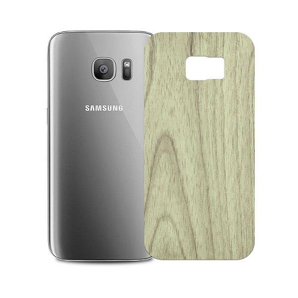 Skin Película Traseira Madeira Clara para Samsung Galaxy S7 Edge - Gshield