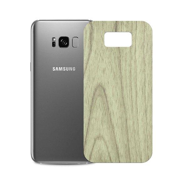 Skin Película Traseira Madeira Clara para Samsung Galaxy S8 Plus - Gorila Shield