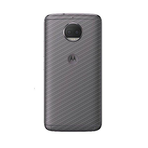 Película Traseira de Fibra de Carbono Transparente para Motorola Moto G5S Plus - Gorila Shield