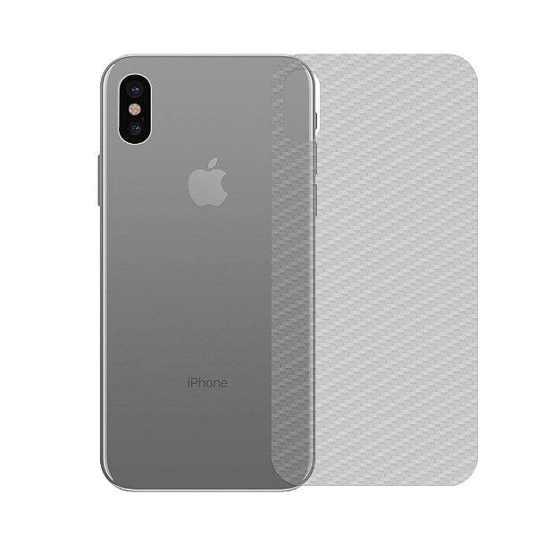 Película Traseira de Fibra de Carbono Transparente para  iPhone X e XS - Gshield