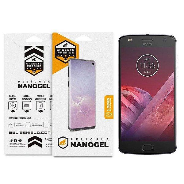 Película Nano Gel Dupla para Motorola Moto Z2 Force - GShield (Cobre toda tela)