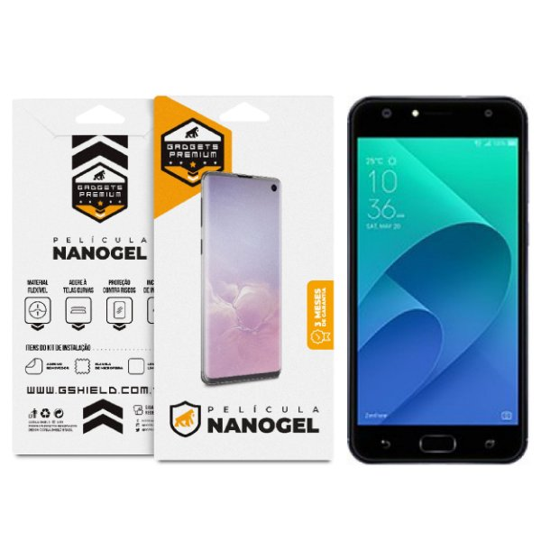 Película Nano Gel Dupla para Asus Zenfone 4 Selfie - ZD553KL - Gshield (Cobre toda tela)