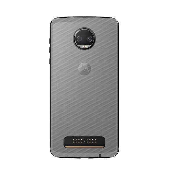 Película Traseira de Fibra de Carbono Transparente para Motorola Moto Z2 Force - Gorila Shield